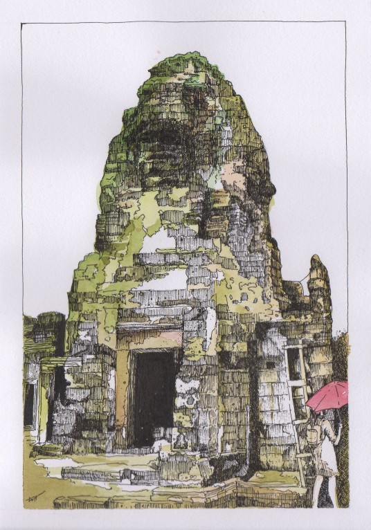 Bayon Temple in colour010